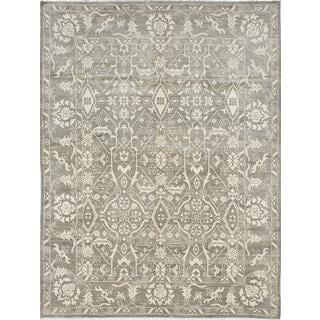 ecarpetgallery Finest Ushak Grey Wool Rug (9'0 x 12'0)