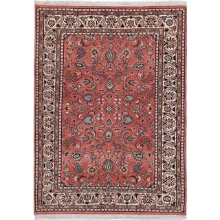 ecarpetgallery Royal Kashan Pink Wool Rug (4'2 x 5'8)