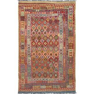 ecarpetgallery Hereke Kilim Red Wool Kilim (6'2 x 10'0)