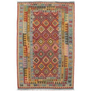 ecarpetgallery Hereke Kilim Red Wool Kilim (6'2 x 9'10)