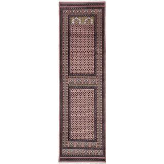 ecarpetgallery Peshawar Bokhara Brown Wool Rug (2'10 x 9'10)