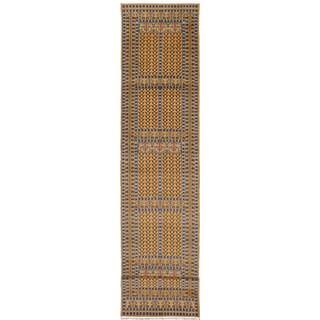 ecarpetgallery Peshawar Bokhara Brown Wool Rug (2'10 x 15'0)