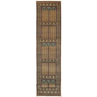 ecarpetgallery Peshawar Bokhara Brown Wool Rug (2'10 x 14'10)