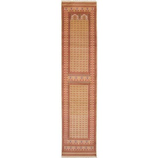 ecarpetgallery Peshawar Bokhara Green Wool Rug - 2'7 x 11'9