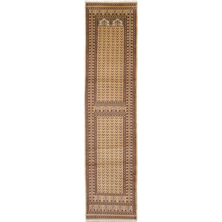 ECARPETGALLERY Hand-knotted Peshawar Bokhara Wool Rug