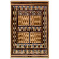 ecarpetgallery Peshawar Bokhara Brown Wool Rug (4'1 x 6'0)