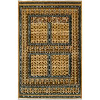 ecarpetgallery Peshawar Bokhara Brown Wool Rug (5'3 x 7'10)