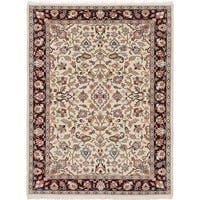 ecarpetgallery Kashmir Ivory Wool Rug - 5'1 x 7'11