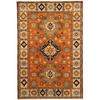 Herat Oriental Indo Hand-knotted Tribal Kazak Wool Rug (4'1 x 6')