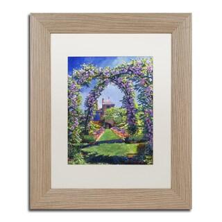 David Lloyd Glover 'English Rose Arbor' Matted Framed Art