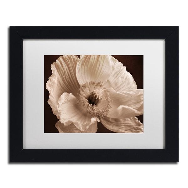 Cora Niele 'Sepia Poppy I' Matted Framed Art