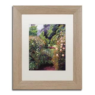 David Lloyd Glover 'Quiet Garden Entrance' Matted Framed Art