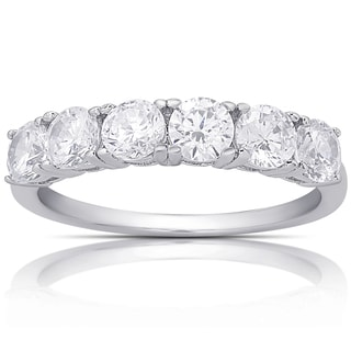 Dolce Giavonna Sterling Silver Cubic Zirconia Ring