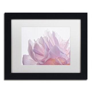 Cora Niele 'Pink Peony Petals VI' Matted Framed Art
