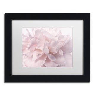 Cora Niele 'Pink Peony Petals II' Matted Framed Art