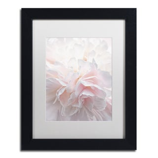 Cora Niele 'Pink Peony Petals IV' Matted Framed Art