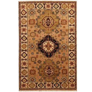 Herat Oriental Indo Hand-knotted Tribal Kazak Wool Rug (4' x 6')