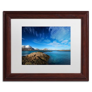 Philippe Sainte-Laudy 'Blue Moment' Matted Framed Art