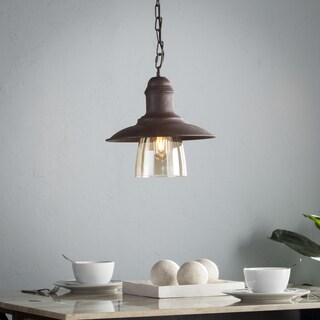 Harper Blvd Corvo Metal and Hand-Blown Glass Bell Pendant Lamp