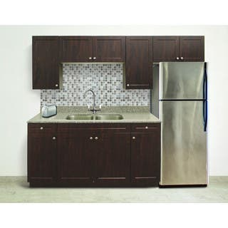 Kitchen cabinets for less for Chocolate pear kitchen cabinets