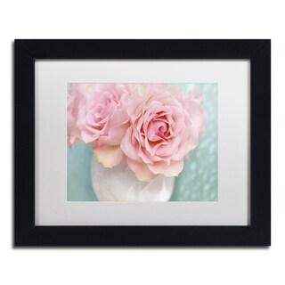 Cora Niele 'Pink Rose Bouquet' Matted Framed Art