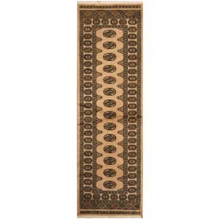 Herat Oriental Pakistani Hand-knotted Bokhara Wool Runner (2'6 x 8')