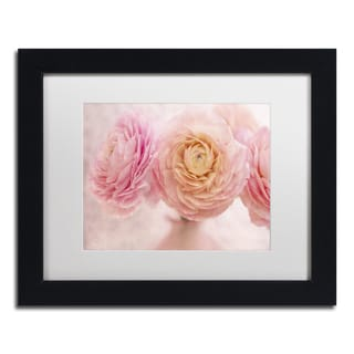 Cora Niele 'Pink Persian Buttercup Bouquet' Matted Framed Art