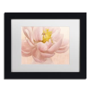 Cora Niele 'Pink Peony' Matted Framed Art