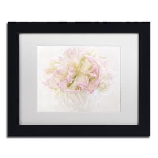 Cora Niele 'Pink Parrot Tulips Bouquet' Matted Framed Art
