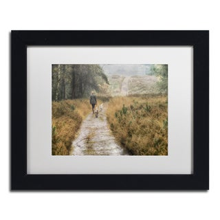 Cora Niele 'Walking the Dogs' Matted Framed Art