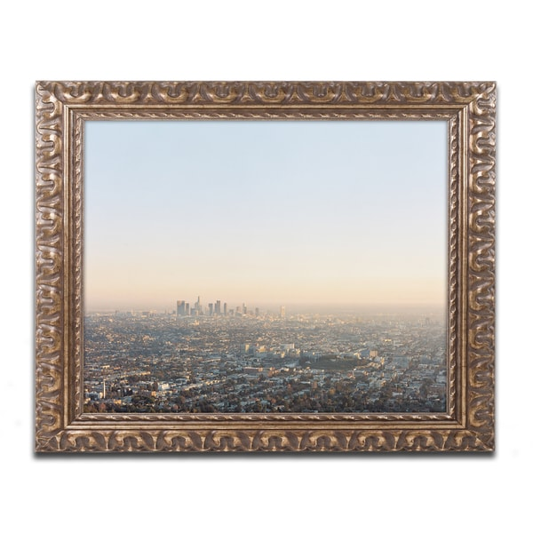 Ariane Moshayedi 'Downtown Los Angeles' Ornate Framed Art