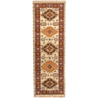 Handmade Kazak Wool Runner (India) - 2'9 x 8'3