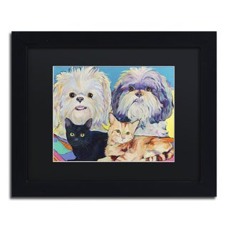 Pat Saunders-White 'Family' Matted Framed Art