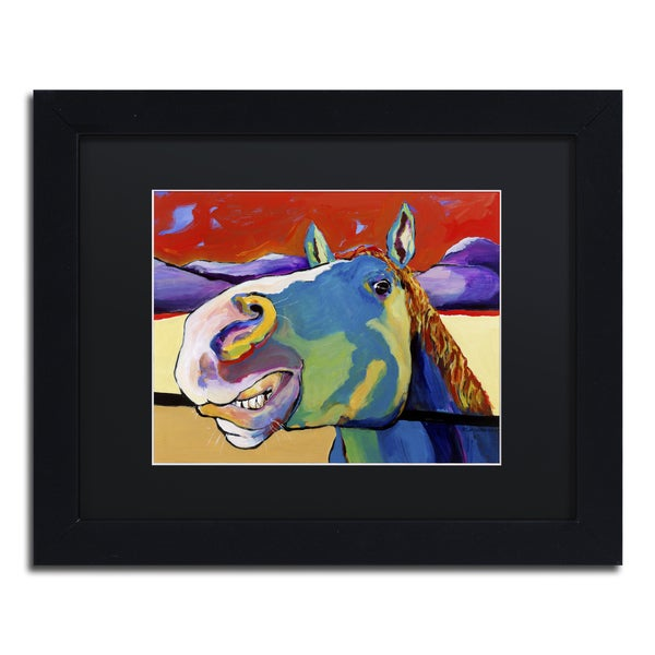 Pat Saunders-White 'Eye to Eye' Matted Framed Art