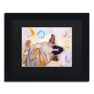 Pat Saunders-White 'Dog Dreams' Matted Framed Art