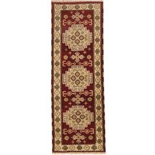 Herat Oriental Indo Hand-knotted Tribal Kazak Wool Runner (2'10 x 8')