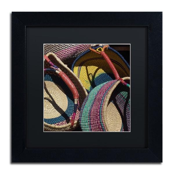 Pat Saunders-White 'Cheyenne Baskets' Matted Framed Art