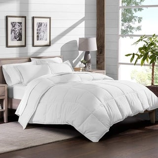 Premium Box Stitched All Season Down Alternative Comforter  White