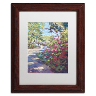 David Lloyd Glover 'Arboretum Garden Path' Matted Framed Art