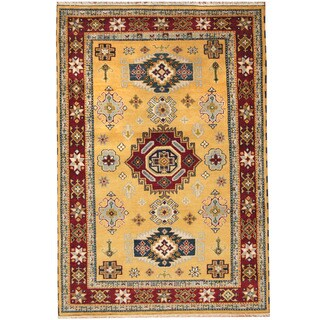 Herat Oriental Indo Hand-knotted Tribal Kazak Wool Rug (5'7 x 8'2)