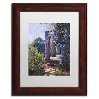 David Lloyd Glover 'Climbing Roses' Matted Framed Art