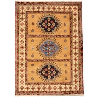 Herat Oriental Indo Hand-knotted Tribal Kazak Wool Rug (5'9 x 7'9)