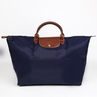 Longchamp Le Pliage Large Navy Foldable Tote Bag