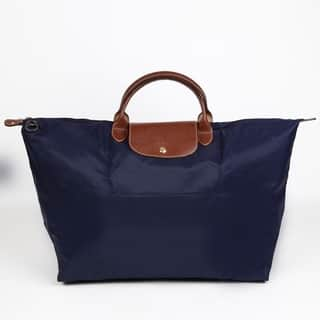 Longchamp Le Pliage Large Navy Foldable Tote Bag|https://ak1.ostkcdn.com/images/products/13544120/P20223588.jpg?impolicy=medium