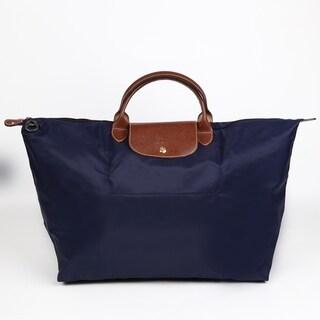 Longchamp Le Pliage Large Navy Foldable Tote Bag