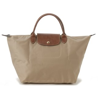 Longchamp Le Pliage Medium Beige Foldable Tote Bag