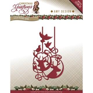 Find It Trading Amy Design Christmas Greetings Die-Reindeeer Ornament