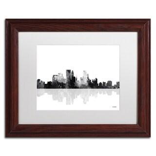 Marlene Watson 'Minneapolis Minnesota Skyline BG-1' Matted Framed Art