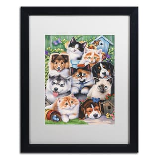 Abril Andrade 'Swan' Matted Framed Art