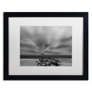 PIPA Fine Art 'Windy Beach' Matted Framed Art